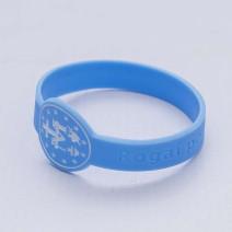 Pulseira Silicone Azul Bebê Medalha Mila..